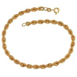 Bracciale donna in oro giallo 18 kt maglia a fune grammi 3,70