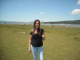 Sullo sfondo il Lago Cecita in Sila