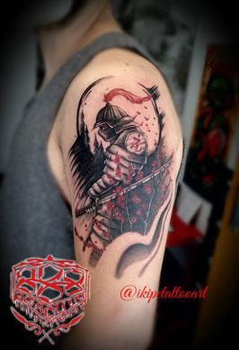 tatuaje acuarela trash polka tattoo colores colorido full color