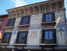Bemalte Häuser in