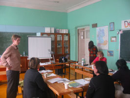 Im Deutschkabinett unserer Schule: eine weitere Fortbildung zum DSD-Zertifikat.