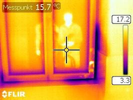 Thermographie Aufnahme Personen Fenster