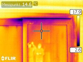 Thermographie undichtes Fenster