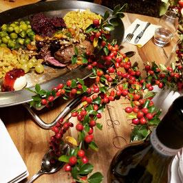 Köstliches aus der Küche, strahlenarmes Restauran mit reduziertem Esmog