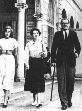 1952. Floride. DIANA ET SES PARENTS.             Comtesse Cécilia et Comte Léopold von STERNBERG.
