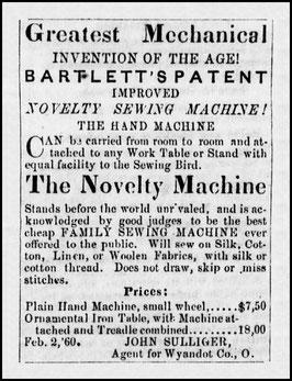 February 1860 Advertisement