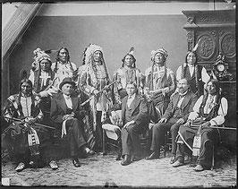 Oglala-Delegation m. Regierungsvertretern 1877