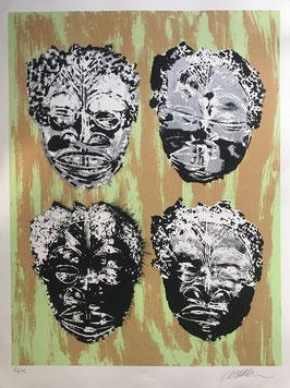 Bibliophilie Arman Masques africains Dumerchez Editions Bernard Editeur