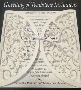 Unveiling of Tombstone Invitations