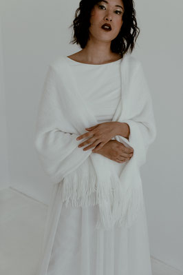 Weicher Schal für die Braut
