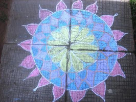 Indian Rangoli by Kathleen