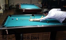 7フィート台で遊ぶ筆者(撮影by早瀬プロ)