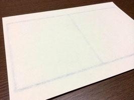 耳付きになる無地のシンプルな手漉きのA4和紙ラベル用紙