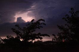 Gewitter über Bernburg