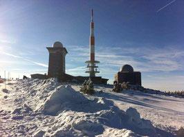 Brockenspitze im Schnee