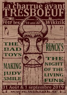kp kitschparadise dessin oeuvre graphique poster affiche concert musique art artiste totem runck's