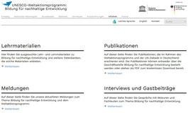 Homepage des BNE-Portals