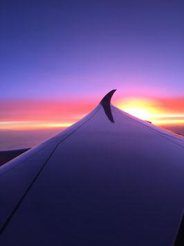 flug-sonnenuntergang
