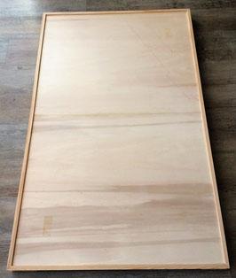 Die Holzleisten zur begrenzung der Grundplatte sind angebracht
