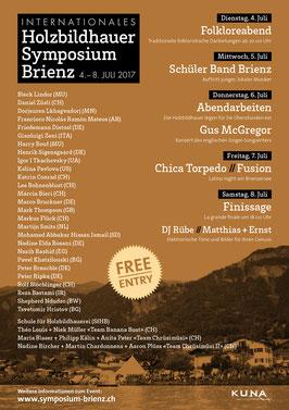 Flyer Symposium 2017 Rückseite mit Informationen