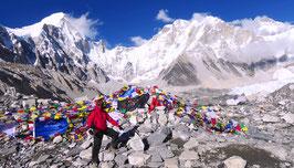 Camp de base de l'Everest 5.358 mètres (Nepal).