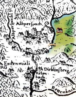 Meisterhaus Alpirsbach - Kartenausschnitt  wurde digital aufbereitet