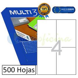 Etiquetas Adhesivas Multi3 Cajas 500 unid