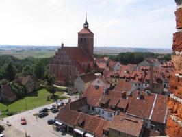 Rössel Вид из башни на город 2009