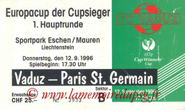 Ticket  Vaduz-PSG  1996-97