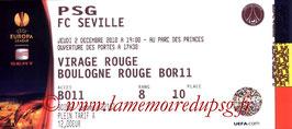 Tickets  PSG-FC Seville  2010-11