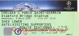 Ticket  Chelsea-PSG  2015-16