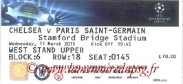 Ticket  Chelsea-PSG  2014-15 bis
