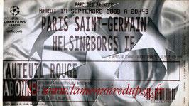 Ticket  PSG-Helsingborg  2000-01