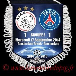 Fanion Ajax Amsterdam-PSG  2014-15