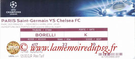 Ticket  PSG-Chelsea  2013-14