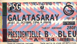 Ticket  PSG-Galatasaray  1996-97