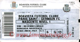 Ticket   Boavista Porto-PSG  2002-03