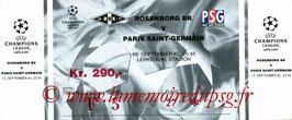Ticket  Rosenborg-PSG  2000-01