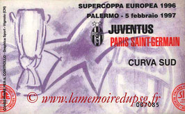 Ticket  Juventus Turin-PSG  1996-97