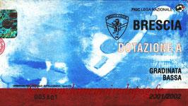 Ticket  Brescia-PSG  2001-02