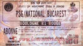 Ticket  PSG-National Bucarest  2002-03