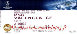 Ticket  PSG-Valence  2012-13