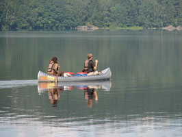 mit dem Kanu auf dem Stora Le