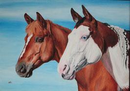 """Das fertige Pferdegemälde """"Kadou und Vicky"""""""
