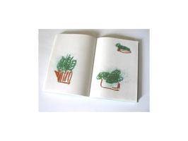 """""""Gemüse, klein"""", 2007; 19 Zeichnungen, zwei Kreiden"""