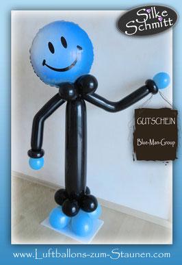 Luftballon Ballon Männchen Geburtstag Dekoration Geschenk witzig Smiley