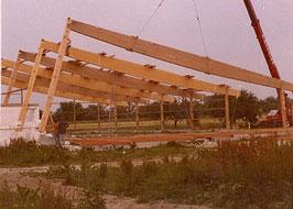 Bau der Reithalle 1979