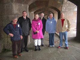 Reçus par Hervé Constantin au Fort de Querqueville (avec Paul Bedel et Catherine Ecole-Boivin