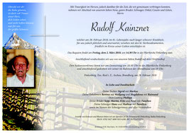 Parte Kainzner Rudl + 28.2.18