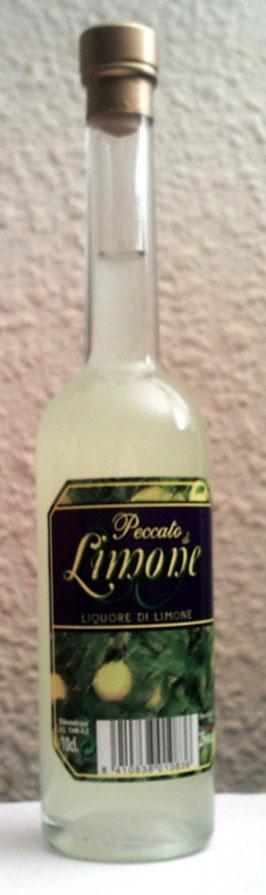 Peccato de Limone, licor de limon